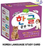 Korean Language Flash Card Basic Word Hangul Learning Study Card Korean Alphabet