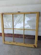 Architectural Salvage ~ 6 PANE OLD WINDOW SASH FRAME CHIPPY TAN BEIGE CREAM
