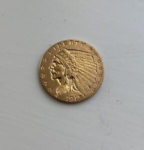 ANOTHER 1915 UNITED STATES $2.50 INDIAN GOLD COIN