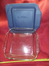 Pyrex Easy Grab 8-inch Square Bakeware with Blue Plastic Cover
