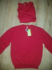 2 pack Cotton Red Jumpers School Uniform Unisex NEW