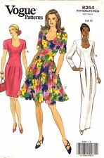 Vogue Sewing Pattern Women's Short or Long EVENING DRESS 8254 Size 6-8-10 UNCUT