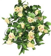 2 X 8Ft Artificial Rose Garland Silk Flower Vine Ivy Wedding Garden Decoration