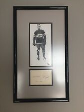 Montreal Canadiens Aurele Joliat Framed Signed Index Card