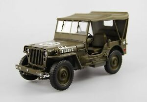 WELLY 1941 JEEP WILLYS MB MILITARY 1:18 DIE CAST METAL MODEL NEW IN BOX 18cm