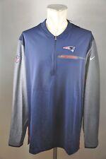 New England Patriots Nike Shirt Gr. XXL Neu NFL Zip Coaches Longsleeve Trikot