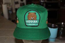 Rare Vintage Kodiak Racing Hat, Grizzly Bear Patch, Snapback Mesh Trucker Cap