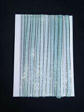 5M 6mm Thin Blue Gold Edged Organza Ribbon Trim Cardmaking Scrapbooking Home