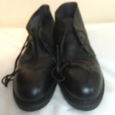 Vtg 1973 Addison Mens Ankle Boots Safety Shoes Black Leather Non-Sparking 8.5N