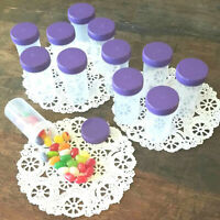 20 Pill Bottles JARS Purple Lids birthday party favors candy jars #3814 DecoJars