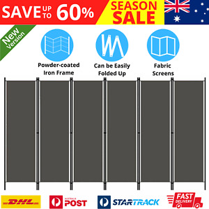 Foldable Room Divider Home Bedroom Separator Fabric Privacy Screen Partition