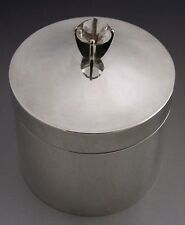 MODERNIST CAMDEN SCHOOL STERLING SILVER TEA CADDY CANISTER 1976 RARE HAND MADE