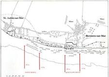 6x4 Gloss Photo wwA42 Normandy Map D-Day Juno Nan Beach