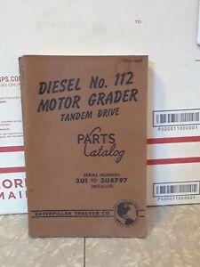 CAT Caterpillar 212 Diesel Engine Motor Grader Parts Manual SN. 3U1-3U4797