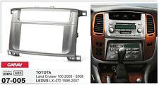 CARAV 07-005 2DIN Car Radio Dash Kit panel LEXUS LX-470 02-07 TOYOTA LC100 03-07