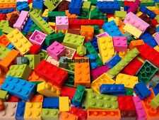 Lego Bulk 200 Piece Lot ONLY BRICKS BLOCKS Mixed Sizes Bright Colors 100% Lego