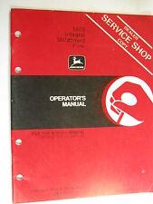 John Deere 1600 Integral Moldboard Plow K3 A48081 Operator'S Manual