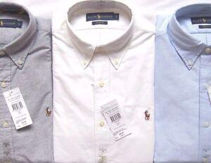 Mens Polo Ralph Lauren The Oxford Shirt Multi Pony Logo Classic Blue Fit RRP £85