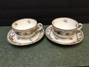 """Schumann Bavaria """"Empress Dresden Flowers"""" Cups And Saucers"""