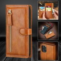 F iPhone 11 Pro XS Max XR X 8 7 6 Magnetic Flip Leather Zipper Wallet Case Cover