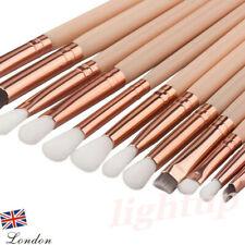 12x Professional Eyeshadow Blending Pencil Eye Brushes Set Makeup Tool UK LIGH