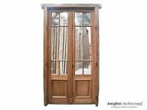 """Antique French door with original glass installed. 50 3/4"""" W x 99 1/2"""" H"""