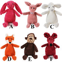 Pet Dog Puppy Toys Soft Plush Chew Squeaky Play Cute Animal Shaped Interactive