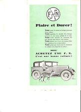 AUTOMOBILES FN FABRIQUE NATIONALE HERSTAL - 1928 / catalogue brochure prospekt