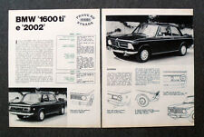 AU39 - Clipping-Ritaglio - 1968 - BMW 1600 ti E 2002 , PROVE SU STRADA