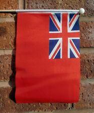 """BRITISH RED ENSIGN HAND WAVING FLAG medium 9"""" X 6"""" wooden pole BRITAIN NAVY"""