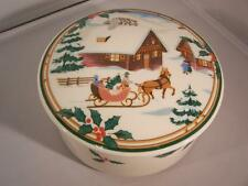 Mikasa Christmas Magic Covered Trinket Box/Candy Dish Excellent New Condition!!