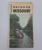 Discover Outdoor Missouri Road Map ~ Travel Vintage Old Route 66 Missouri