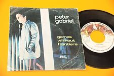 "PETER GABRIEL GENESIS 7"" GAMES .. ORIG PORTUGAL ONLY DIFFERENT COVER TOP RARE"