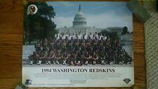Washington Redskins 1994 posing in 1937 throwback uniforms poster