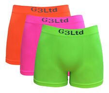3 X Men's Microfibre Boxer Shorts Wicking Sports Running Active Seamless Neon
