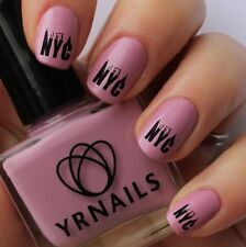 Nail WRAPS Nail Art Water Transfers Decals - NYC - New York City - S128