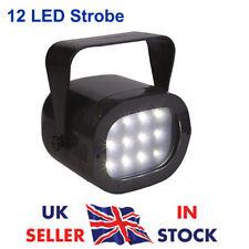 Mini Strobe Light 12 LED Variable Flashing Speed Control Portable Disco DJ Party