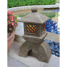 Sacred Asian Japanese Temple Pagoda Illuminated Solar Garden Statue