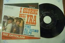 """RIZ ORTOLANI""""I GIORNI DELL'IRA-disco 45 giri RCA It 1966"""" OST WESTERN/RARO"""