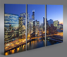 Bild auf Leinwand Chicago XXL Poster Leinwandbild Wandbild