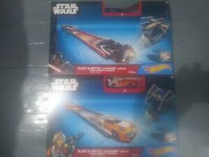 Star wars hot wheels blast and battle 2 sets luke Skywalker Darth Vader Mattel