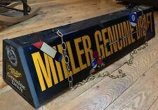 Miller Beer Pool Table Bar Light Hanging Sign Pub Man Cave Work Shop