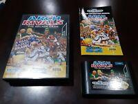 Arch Rivals (Sega Genesis, 1992)Cartridge, case and manual