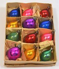 12 VINTAGE MERCURY GLASS TEARDROP CHRISTMAS FEATHER TREE BAUBLES ORNAMENTS CB19
