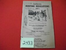 Vintage 1971 California Hunting Regulations Booklet - Fish & Game Code 217 Vgcfa