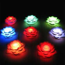 Romantic Lotus Flower Night Light Color Changing LED Night Light Love Lamp^/