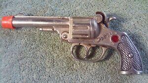 "Vintage Kenton ""Westo"" Cast Iron Cap Gun Pistol ""Red Jewel""  Pat'd Sept 11 1923"