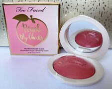 Too Faced PEACH MY CHEEKS MELTING POWDER BLUSH So Peachy Pink ~ 12.5g Full-Size