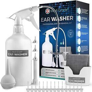 Medi Grade Ear Wax Remover Syringe Bottle - Ear Cleaner Ear Wax Removal Kit Tool