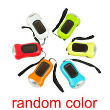 Rechargeable Camping Solar Powered 3 LED Flashlight Hand Crank Dynamo FR